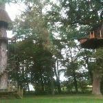la cabane au milieu de parc avec une belle vue