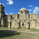 Side view of Mission San Jose Church