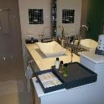 bathroom, with large shower