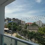 view from room, front of hotel