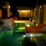 Ginger Suites pool at night