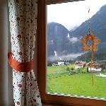Vista de las cascadas desde la sala de desayuno