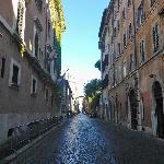 La via Giulia - la rue sur laquelle donne le b&b