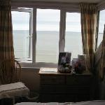 Room 11 at the Windsor Hotel, Weymouth showing proximity of the sea