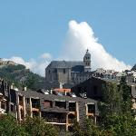 la vue sur Briançon depuis la terrasse
