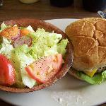 1/3 pound cheeseburger with salad for only $4.00!