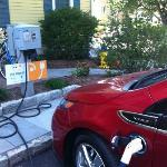 Electric car charging station! Love it!!!