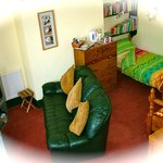 Spacious family room, well equipted for children