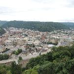 View of Johnstown from the Incline ride going up.