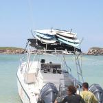 Our Boat, geared up for Marietta Island tour
