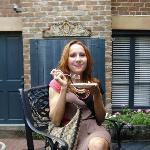 YUM! High tea in the courtyard!