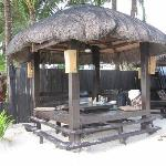 cabana outside the hotel