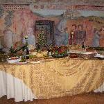 buffet nell'antico refettorio