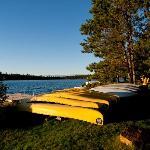 A few canoes...
