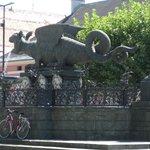 Lindwurmbrunnen Foto