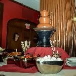 Chocolate Fountain at Sunday Brunch Buffet