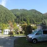 Our campsite in Queenstown