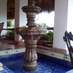 Fountain on the balcony