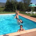us in the pool at Relais San Peitro