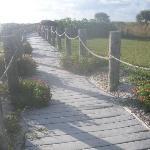 Walk way to Gulf Ocean