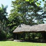 Long Hut picnic table - Aviary Gardens