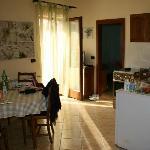 Balcony, bedroom, kitchen