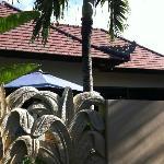 il tetto della villa dall'ingresso privato