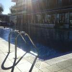 depuis la piscine