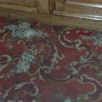 Stained carpet in Elevator