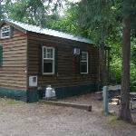 Side view of our cabin