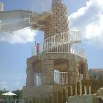 La torre del parque acuático