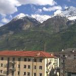 View from our room of mountains