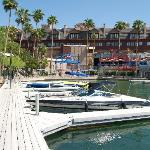 A beautiful resort complete with docking facilities.