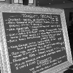Our specials board has a focus on local fresh seafood