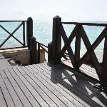 Steps going down to ocean on the Royal Villa deck.
