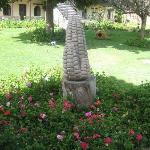 Statue of corn in gardens