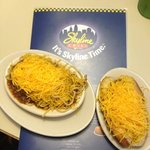 4 way on left, cheese coney on right!
