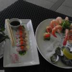 *First Course Natural Coffin Bay Oysters - Fresh Mooloolaba Prawns - Smoked Salmon with avocado,