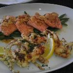*Third Course Rainbow Trout - Green Beans - Toasted Almonds and Soft Shell Crab and fries.