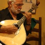 This is the famous Portuguese guitar. Does not look like a guitar at all...