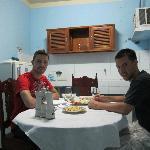 Nosotros en la comedor - delicioso! ;)