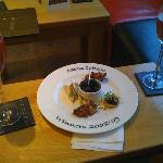 Delicious Canapes and refreshing Kir Royal in the Bar pre-dinner