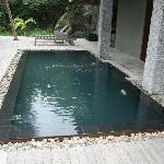 Plunge pool at villa