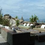 Relaxation area near the restaurant