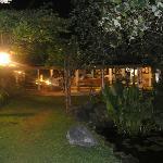 restaurant view from the garden