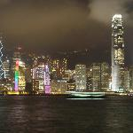 Hong Kong by night... Laser show !