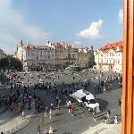 View on the Old Town Square from room 212