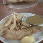 my 'small' cod, chips & curry sauce - excellent!