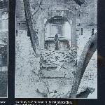 初期のロイヤルシェイクスピア劇団の建物火災後のマクベス夫人像