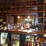 Wine and beer behind the bar